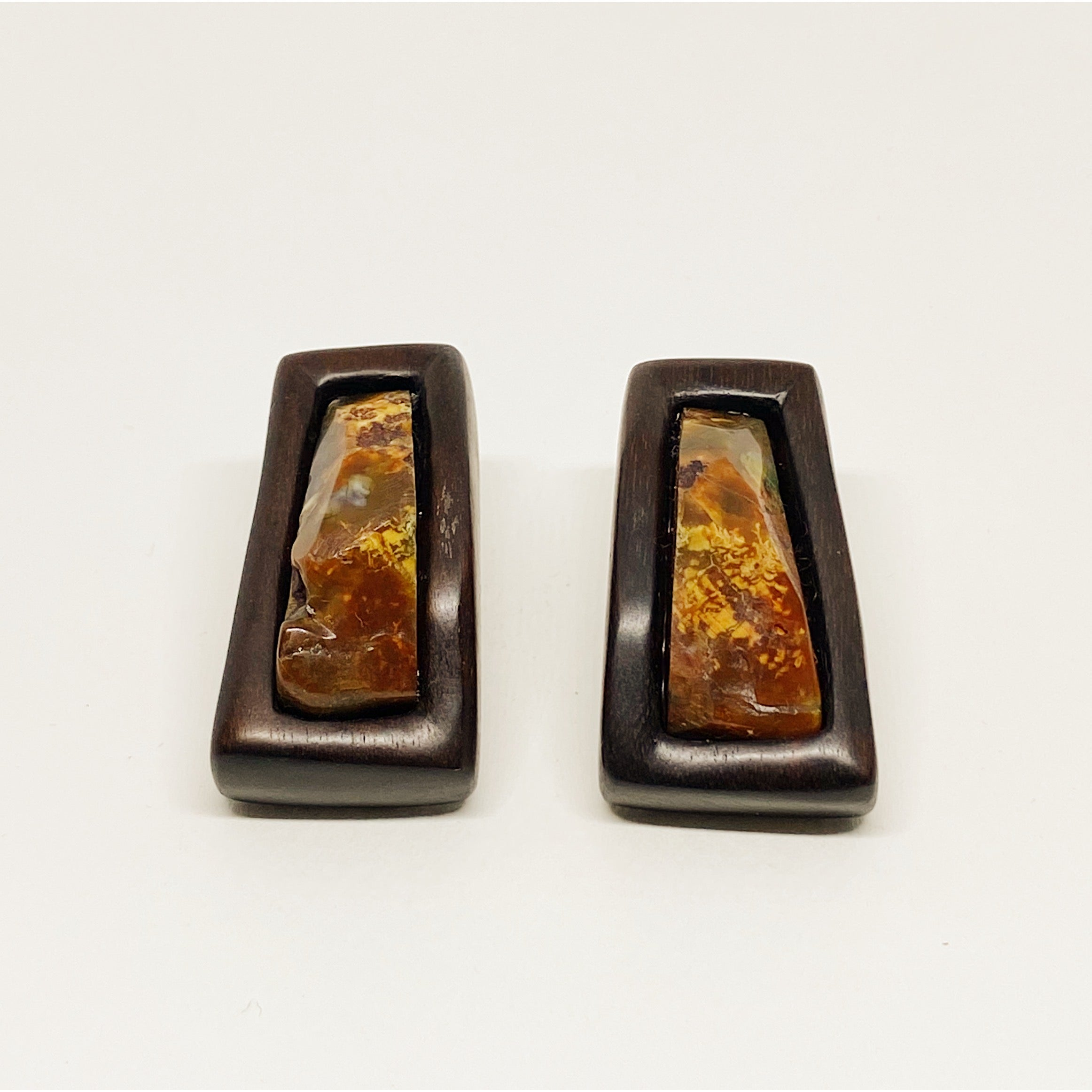 Orange Stone Earrings