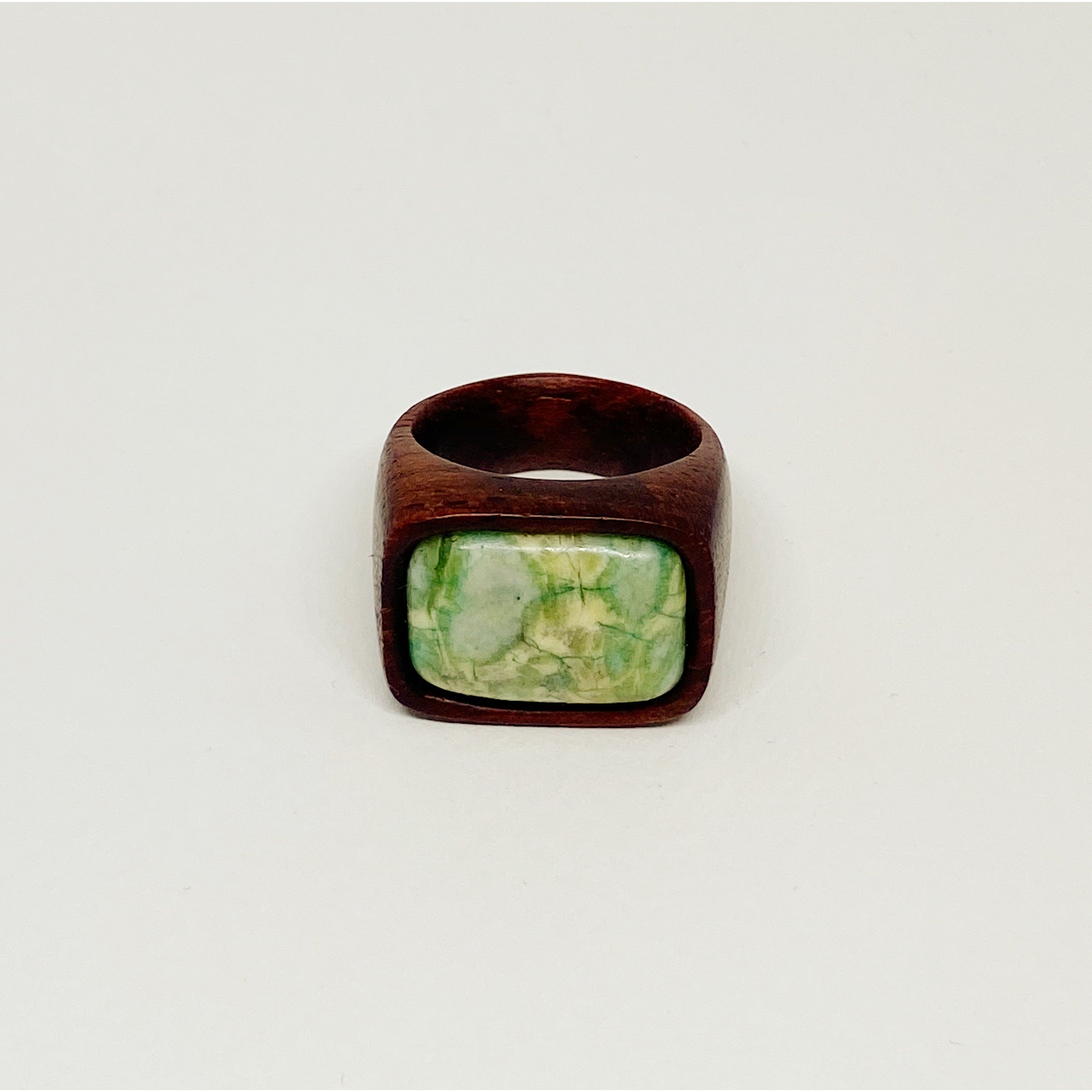 Light Green Nature | Wooden Ring