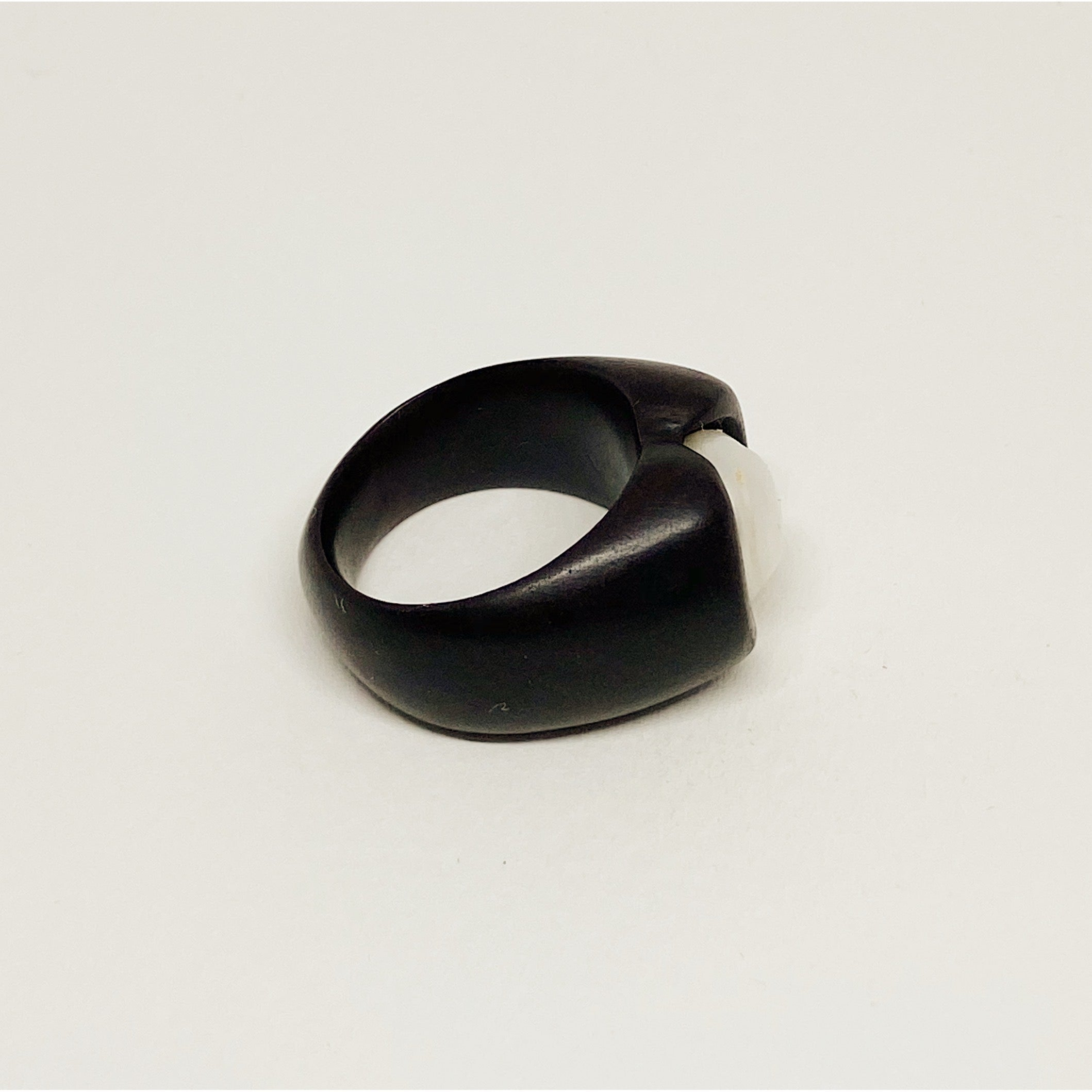 White Pearl | Wooden Ring