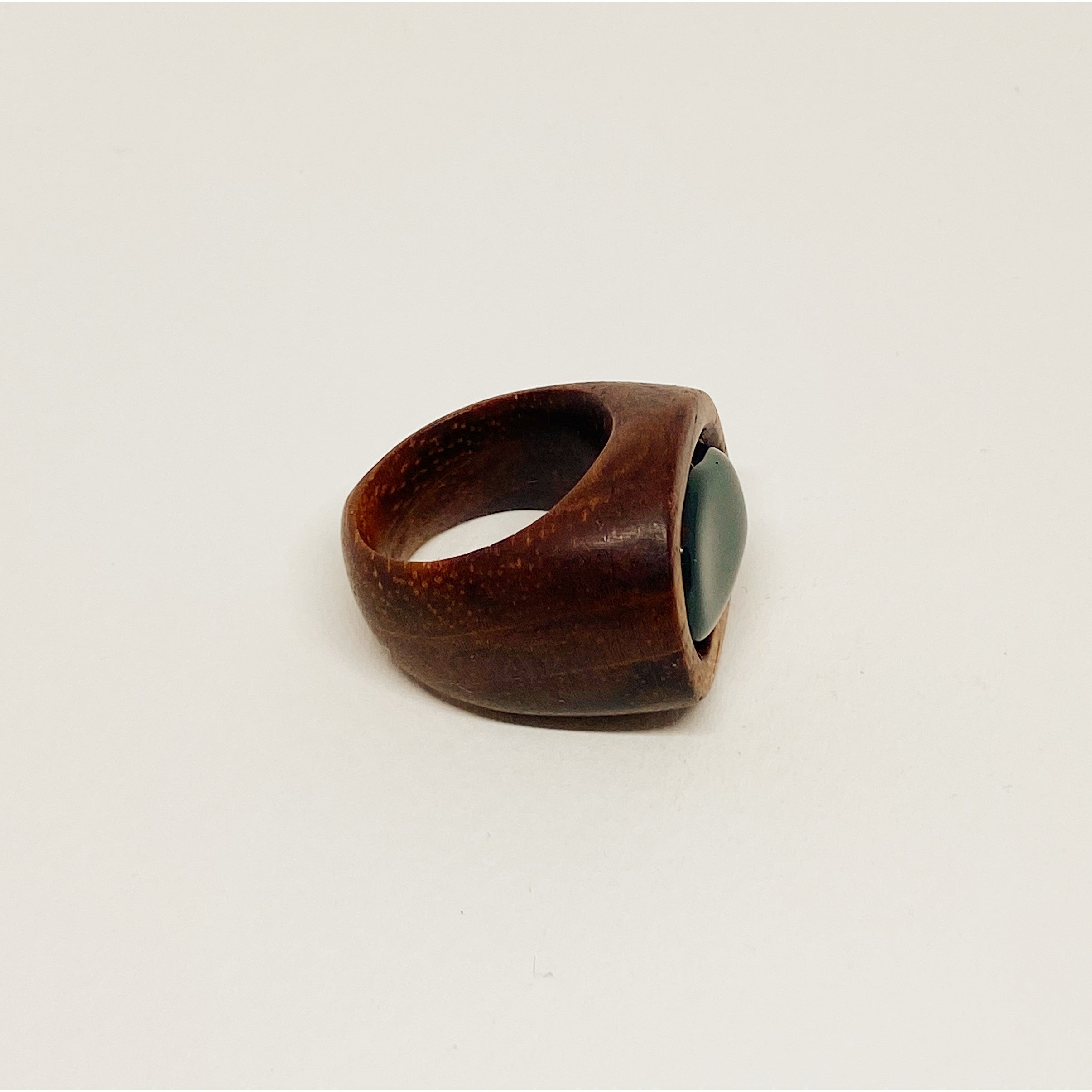 Deep Dark Green | Wooden Ring