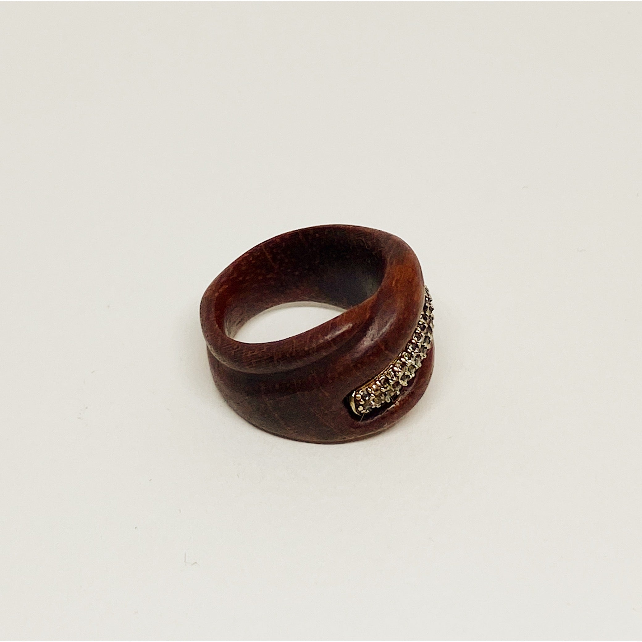 Silver Stripe | Wooden Ring