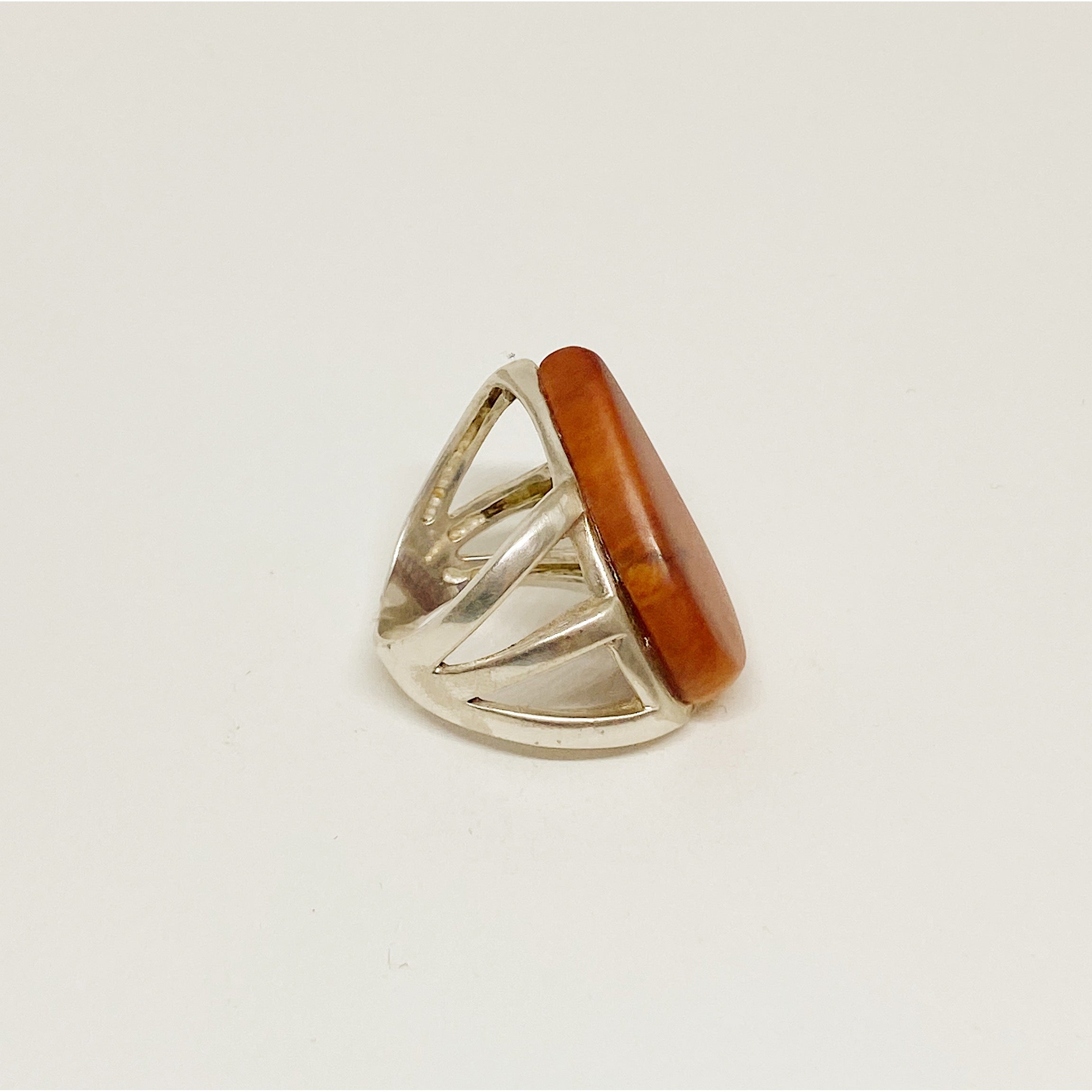 Wooden Drop | Silver Ring