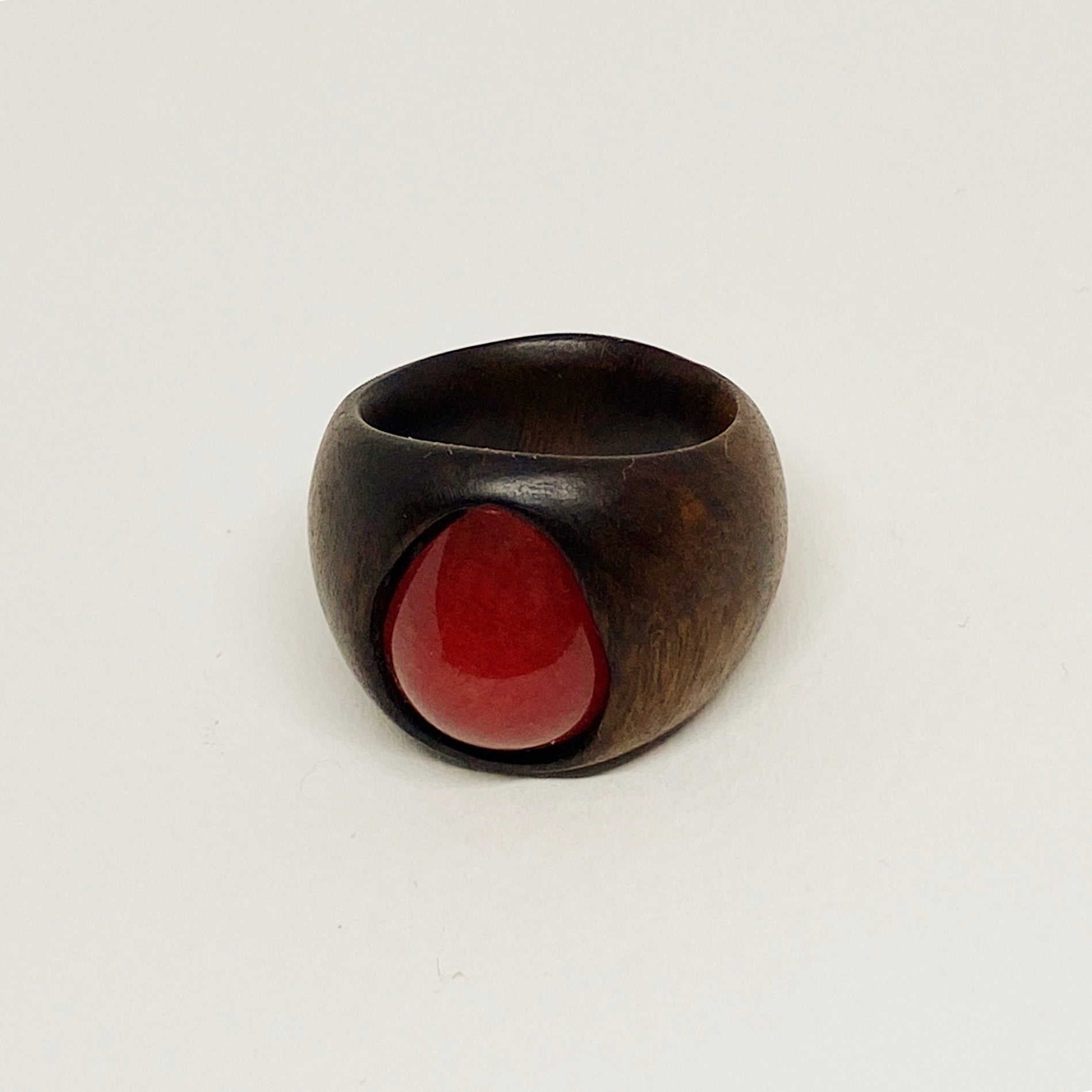 Red Drop | Wooden Ring