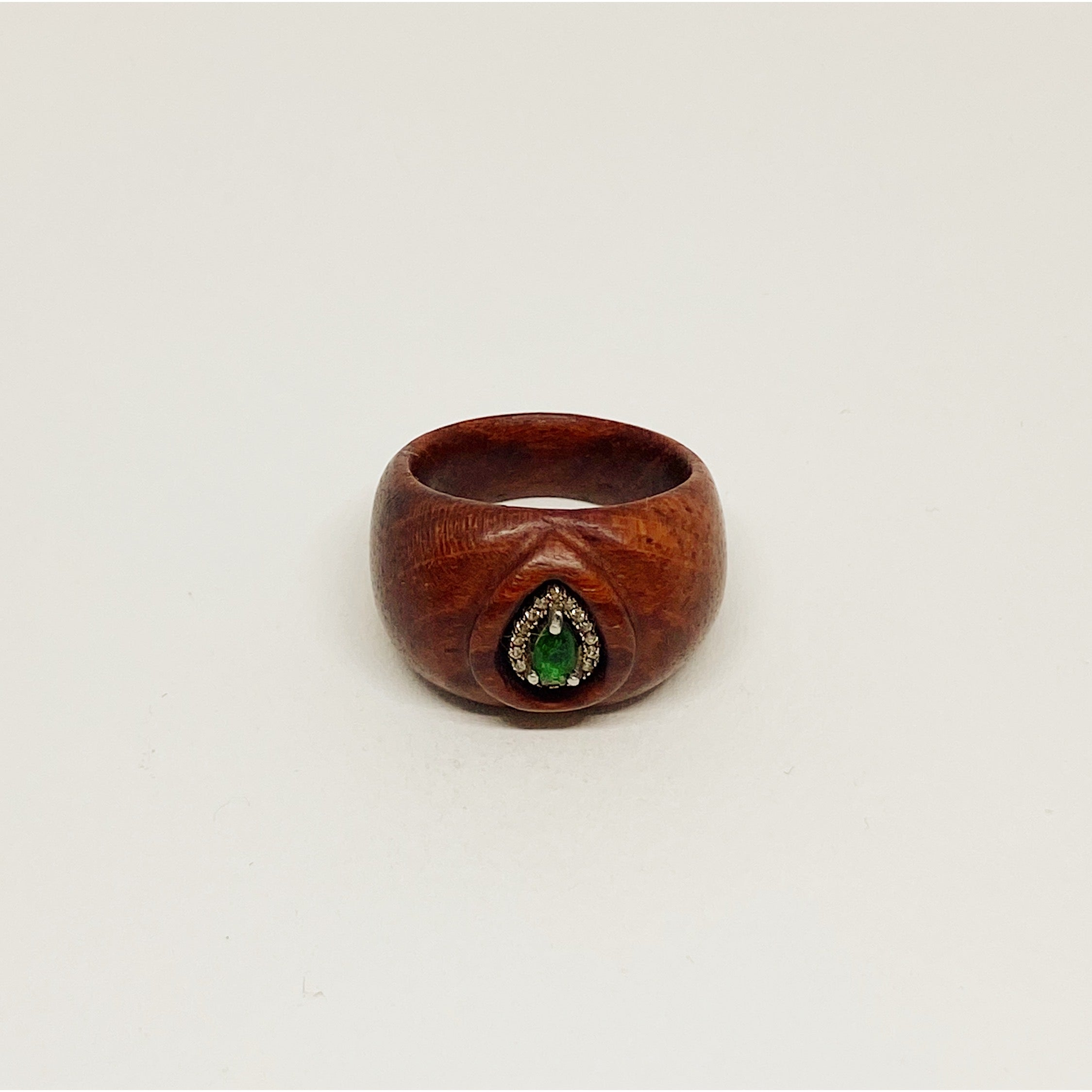 Emerald Drop | Wooden Ring
