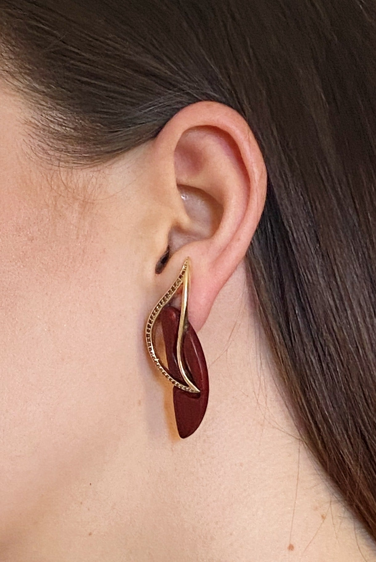 Gold Flow | Wooden Earrings
