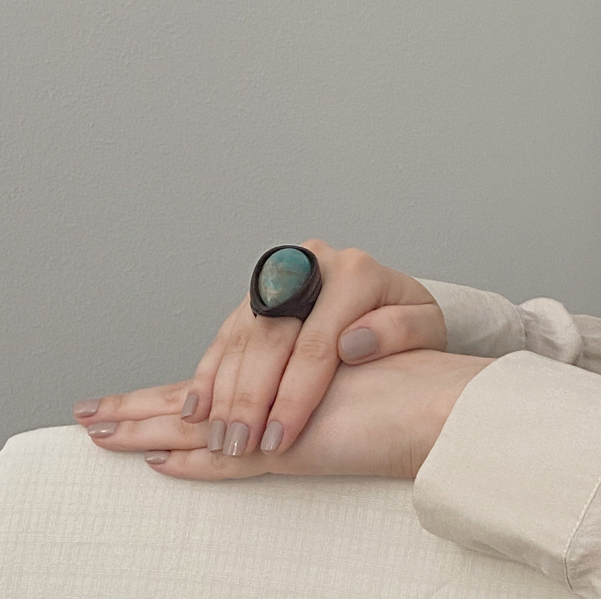 Water Blue | Wooden Ring