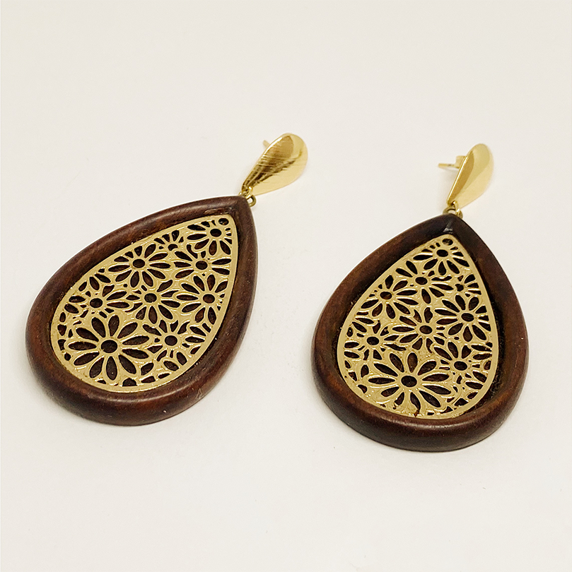 Golden Webbed Earrings