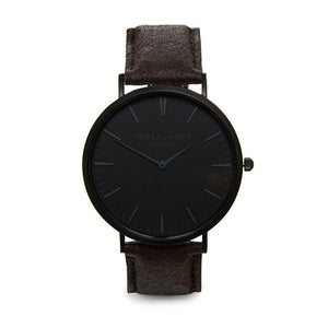 Mr Beaumont Engraved Vegan Watch Black Face - Wear We Met
