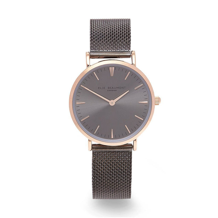 Own Handwriting Small Elie Beaumont Dark Grey Ladies Watch