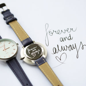 Handwriting Engraved Anaii Watch In Orchid Purple - Wear We Met