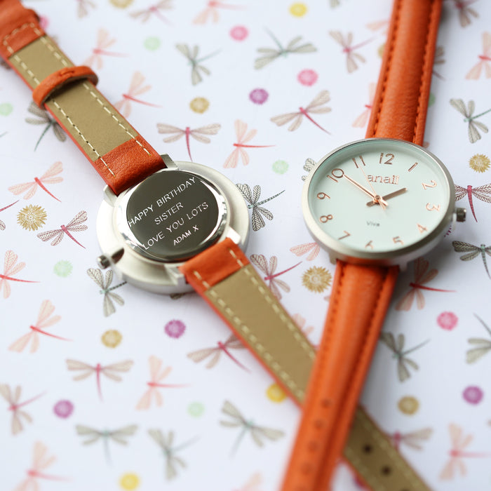 Personalised Blush Red Anaii Watch