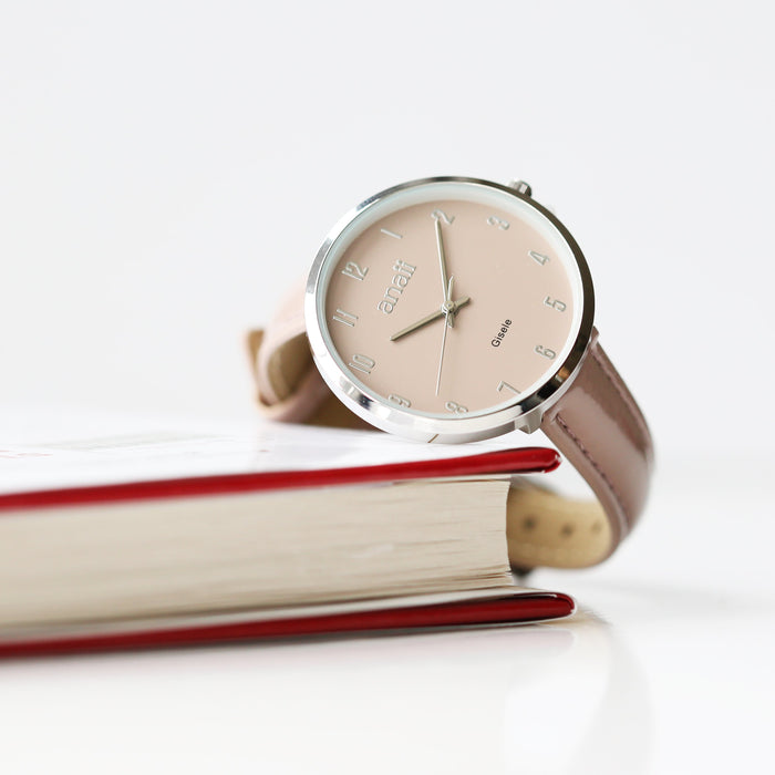 Handwriting Engraved Anaii Watch In Sandstone