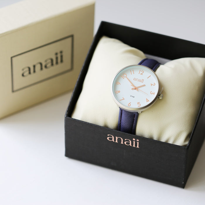 Personalised Anaii Watch In Orchid Purple