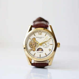 Engraved Automatic Watch By Mr Beaumont - Gold