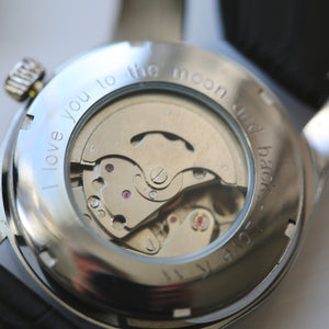 Engraved Automatic Watch By Mr Beaumont - Black
