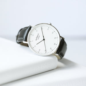Handwriting Engraving - Men's Architect Zephyr + Jet Black Strap