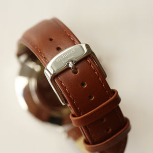 Handwriting Engraving - Men's Architect Zephyr + Walnut Strap