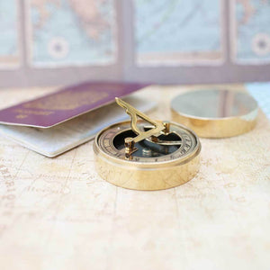 Personalised Nautical Sundial Compass - Wear We Met