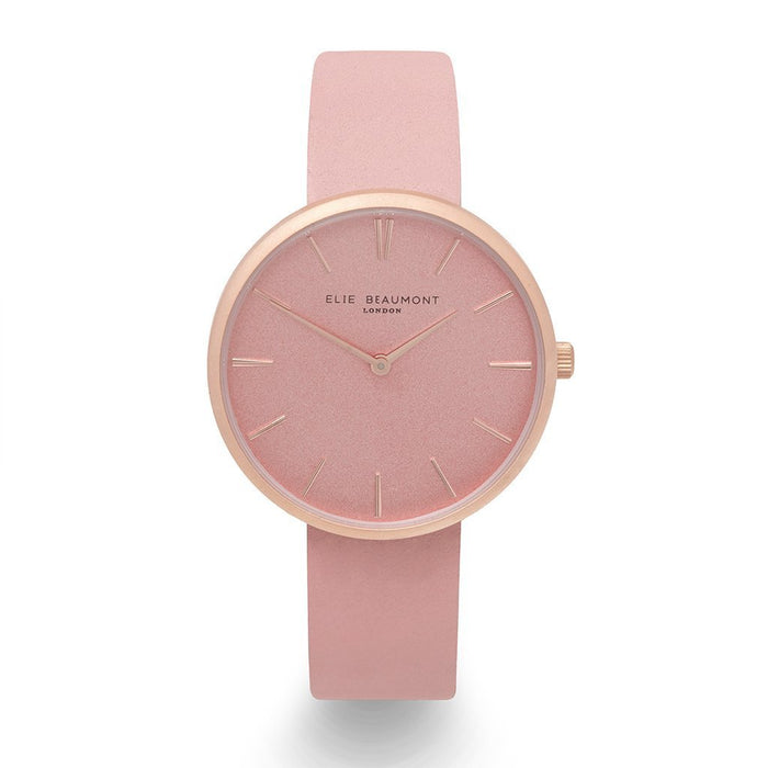 Engraved Watch For Her Elie Beaumont Hampstead Pink