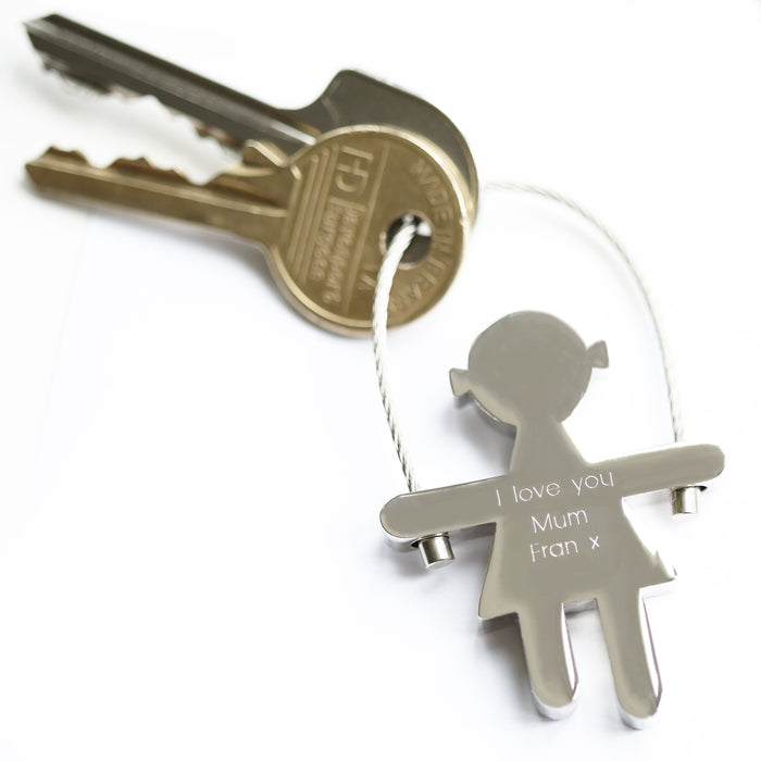 Skipping Sally Key Ring