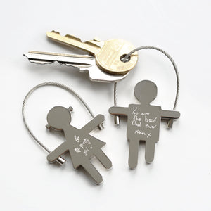 Skipping Sally Key Ring Handwriting Engraving - Wear We Met