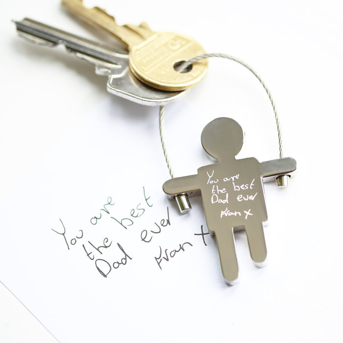 Skipping Sam Key Ring Handwriting Engraving