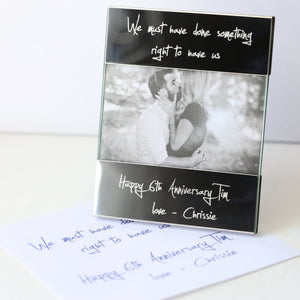 Handwriting Engraving Photo Frame
