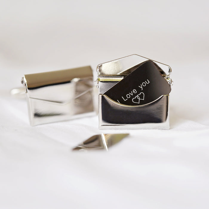Secret Message Engraved Cufflinks