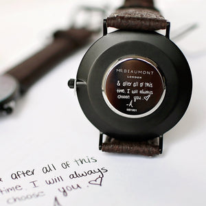 Own Handwriting Mr Beaumont Vegan Watch Black Face - Wear We Met