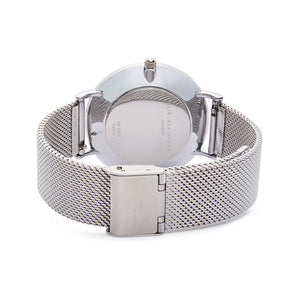 Own Handwriting Elie Beaumont of London Mesh Strap White Dial Ladies Watch - Wear We Met