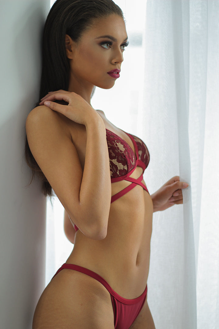 Red Lace Angelique