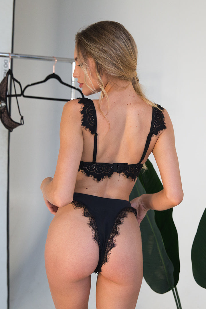 Heather V in Black Lace