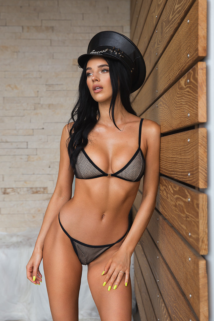 Iliana in Black Mesh
