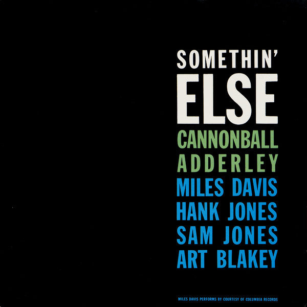 Cannonball Adderley - Somethin' Else - Vinyle
