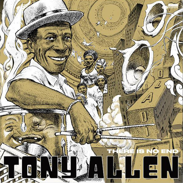 Tony Allen - There Is No End - Pack Collector - Double vinyle Baguettes Feutrine Totebag