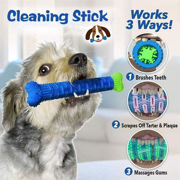 Pet Dog Chew Toys Rubber Molar Stick Pet Dog Toothbrush Bite Resistant Toy Oral Tooth Artifact Cleaning Brushing dog bone toy