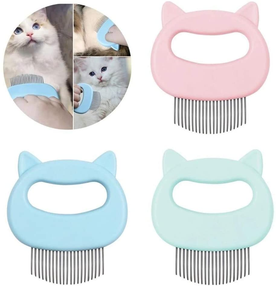(BUY 1 GET FREE 1) Durable Pet Massage Brush Shell Shaped Handle Pet Grooming Massage Tool To Remove Loose Hairs Only For Cats