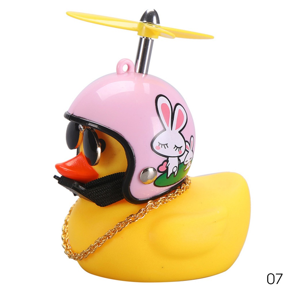 2020 Bicycle Duck Bell with Light Yellow Broken Wind Small Duck Hard Hat Helmet Cycling Equipment Bike Handlebar Head Light Ring