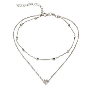 Stunning Multilayer Heart Charm Necklace
