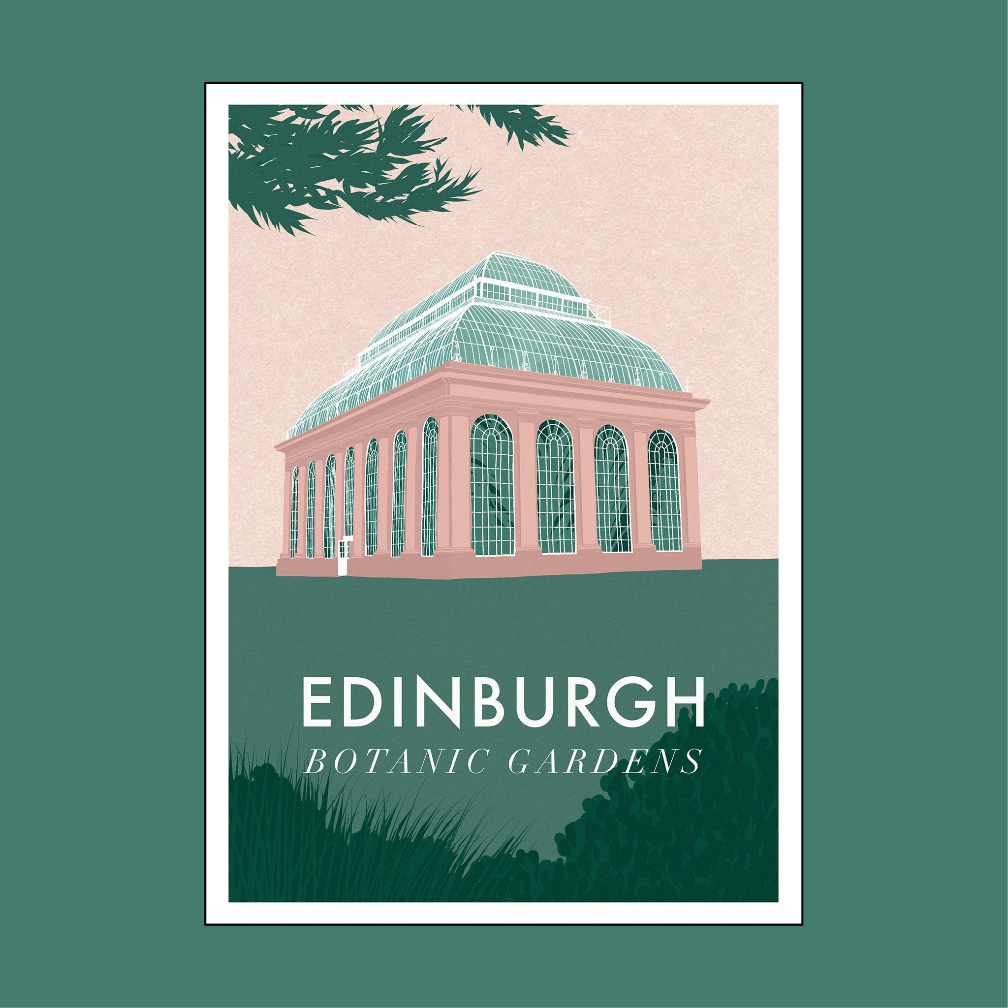Edinburgh postcard by Emily Jane Long
