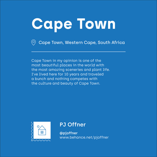 Cape Town postcard by PJ Offner