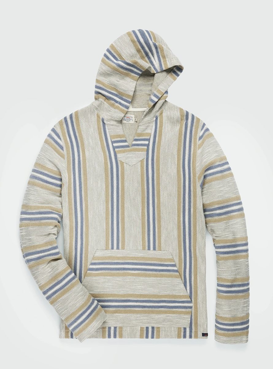 Faherty Brand Baja Beach Poncho Del Norte Stripe