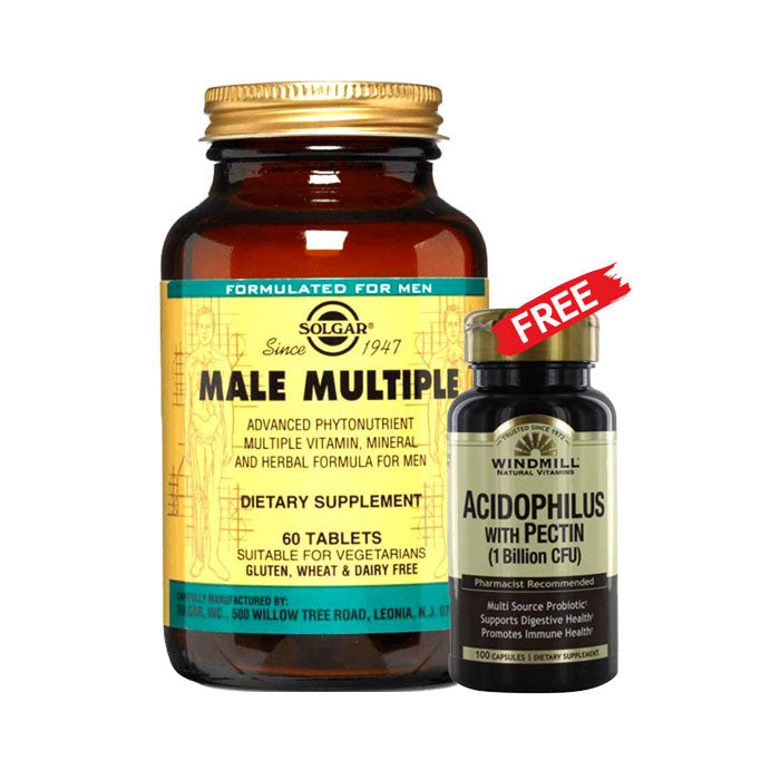 Solgar Male Multiple Non Flavoured Multi Vitamins 60Tabs
