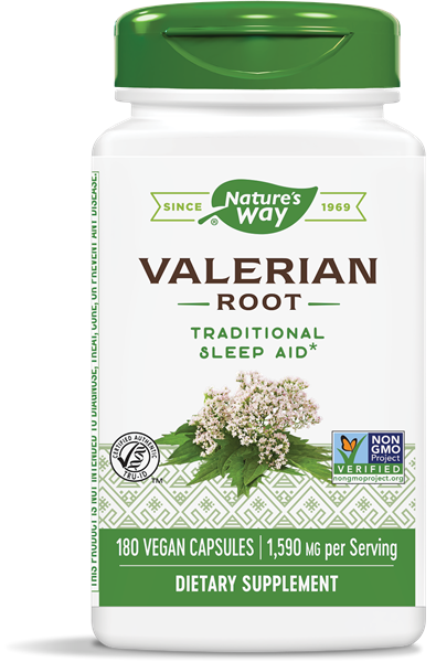 Nature's Way Valerian Root Traditional Sleep Aid - 180 Vegan Capsules