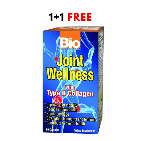 1+1 Offer Bio Nutrition Joint Wellness With Type 2 Collagen 60 Capsules