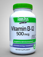 Foods Plus Vitamin B12 500Mcg 60 Tablets
