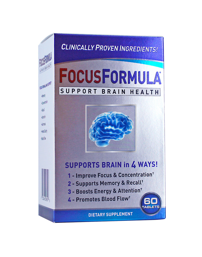 Focus Formula - 60 Tablets, support brain health