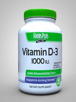 Foods Plus Vitamin D3 1000Iu - 60 Tablets