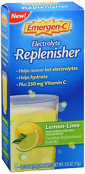 Emergen-C Electrolyte Replenisher Lemon-Lime 8 Packets