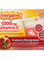 EMERGEN C - CRANBERRY POMEGRANATE FIZZY DRINK MIX - 30 COUNT